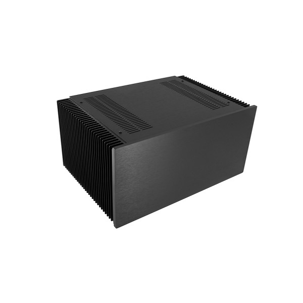 Dissipante 4U 300mm 10mm BLACK front panel - 3mm aluminium covers and rear panel