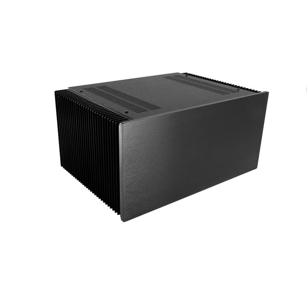 Dissipante 5U 300mm 10mm BLACK front panel - 3mm aluminium covers and rear panel