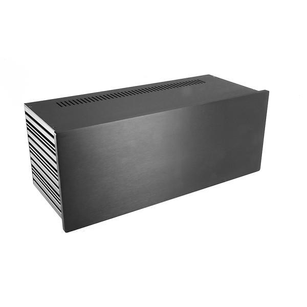 Slim Line 04/170 10mm BLACK front panel - 3mm aluminium covers