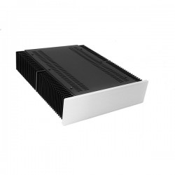 Mini Dissipante 2U 400mm 10mm SILVER front panel - 2mm aluminium covers and 3mm rear panel