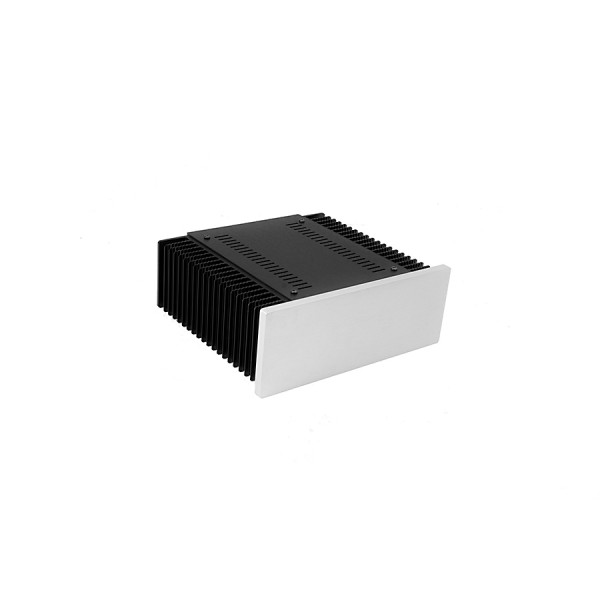 Mini Dissipante 2U 200mm 10mm SILVER front panel - 2mm aluminium covers and 3mm rear panel
