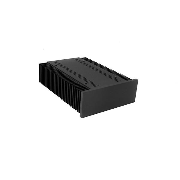 Mini Dissipante 2U 300mm 10mm BLACK front panel - 2mm aluminium covers and 3mm rear panel