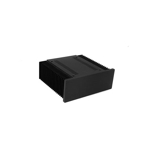 Mini Dissipante 2U 200mm 10mm BLACK front panel - 2mm aluminium covers and 3mm rear panel