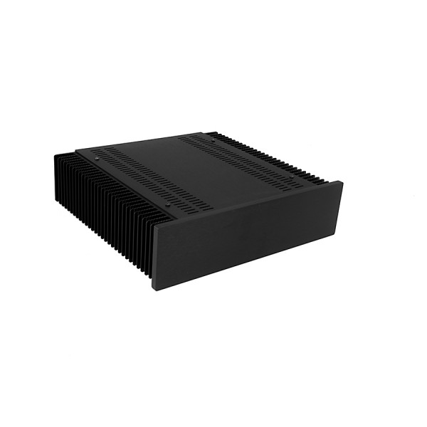 Mini Dissipante 2U 300mm 10mm BLACK front panel - 2mm aluminium covers and 3mm rear panel