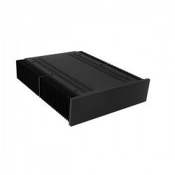 Mini Dissipante 2U 400mm 10mm BLACK front panel - 2mm aluminium covers and 3mm rear panel