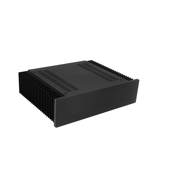 Mini Dissipante 2U 250mm 10mm BLACK front panel - 2mm aluminium covers and 3mm rear panel