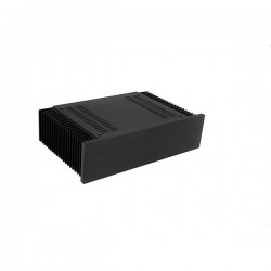 Mini Dissipante 2U 200mm 10mm BLACK front panel - 2mm aluminium covers and 3mm rear panel