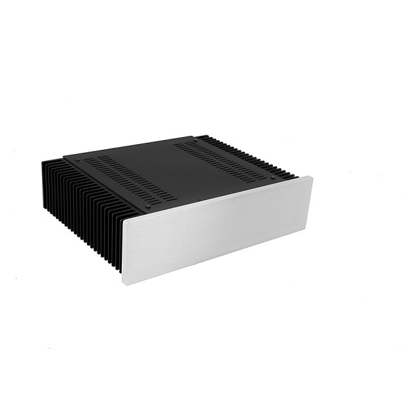 Mini Dissipante 2U 250mm 10mm SILVER front panel - 2mm aluminium covers and 3mm rear panel