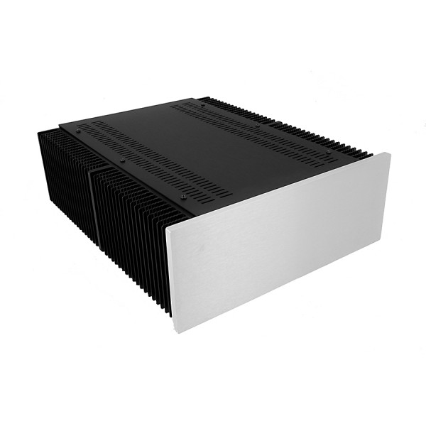 Mini Dissipante 3U 400mm 10mm SILVER front panel - 3mm aluminium covers and rear panel