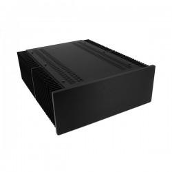 Mini Dissipante 3U 400mm 10mm BLACK front panel - 3mm aluminium covers and rear panel
