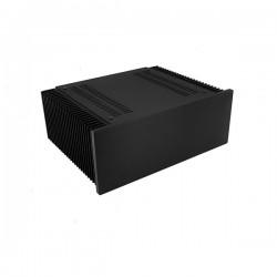Mini Dissipante 3U 250mm 10mm BLACK front panel - 2mm aluminium covers and 3mm rear panel