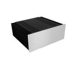 Mini Dissipante 3U 300mm 10mm SILVER front panel - 2mm aluminium covers and 3mm rear panel