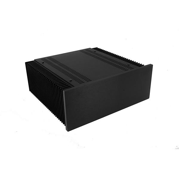 Mini Dissipante 3U 300mm 10mm BLACK front panel - 2mm aluminium covers and 3mm rear panel