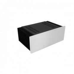 Mini Dissipante 3U 200mm 10mm SILVER front panel - 2mm aluminium covers and 3mm rear panel