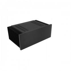 Mini Dissipante 3U 200mm 10mm BLACK front panel - 2mm aluminium covers and 3mm rear panel