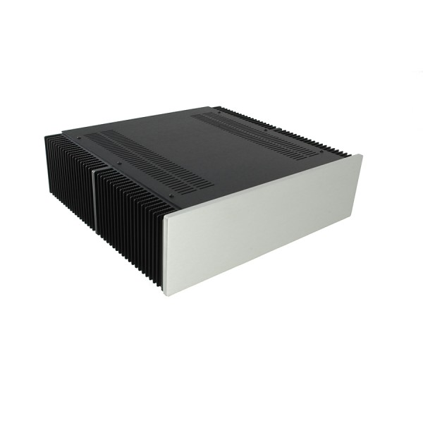 Dissipante 3U 400mm 10mm SILVER front panel - 3mm aluminium covers and rear panel