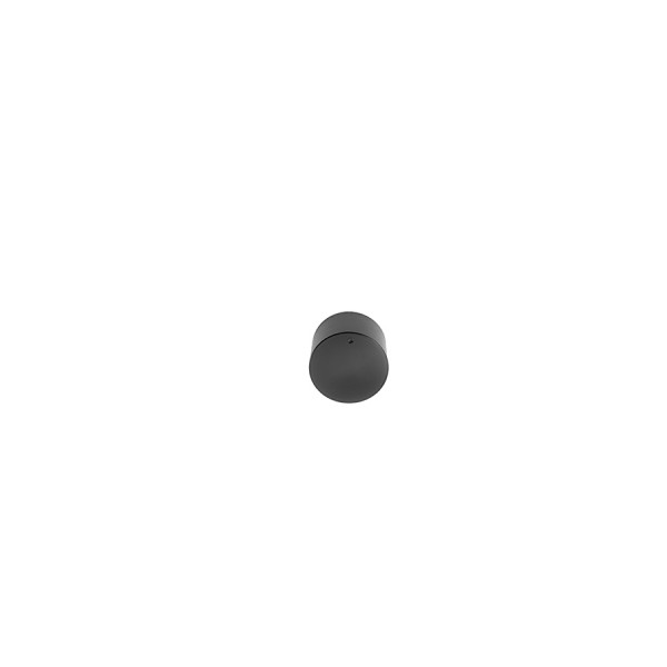 Precision-milled aluminium knob 39.5 mm diameter black anodized