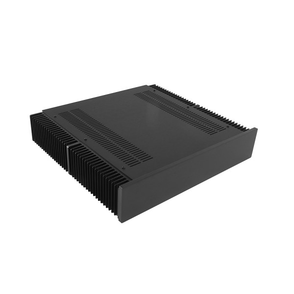 Dissipante 2U 400mm 10mm BLACK front panel - 3mm aluminium covers and rear panel