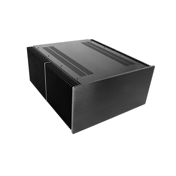 Dissipante 5U 500mm 10mm BLACK front panel - 3mm aluminium covers and rear panel
