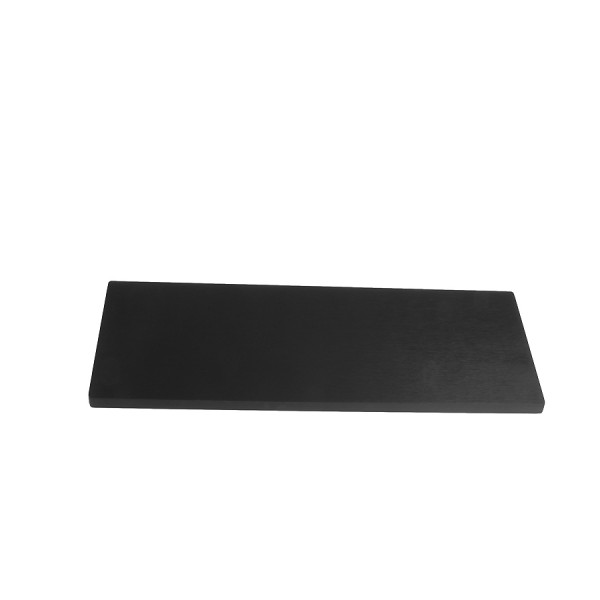 10mm alluminium frontal panel 3U BLACK