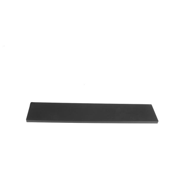 10mm alluminium frontal panel 2U BLACK