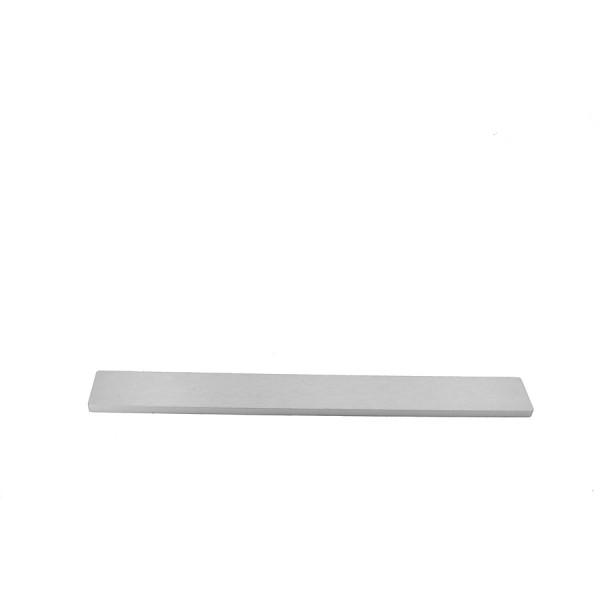 10mm alluminium frontal panel 1U SILVER