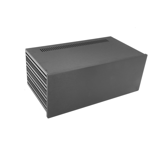 Slim Line 04/230 10mm BLACK front panel - 3mm aluminium covers