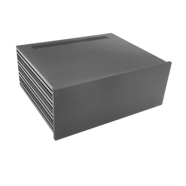 Slim Line 04/350 10mm BLACK front panel - 3mm aluminium covers