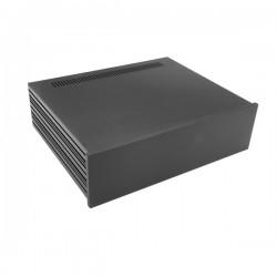 Slim Line 03/350 10mm BLACK front panel - 3mm aluminium covers
