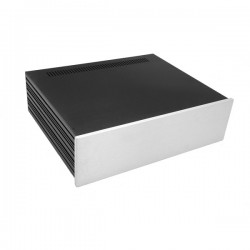 Slim Line 03/350 10mm SILVER front panel - 3mm aluminium covers