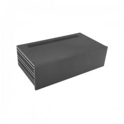 Slim Line 03/230 10mm BLACK front panel - 3mm aluminium covers