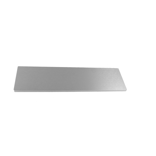10mm alluminium frontal panel 3U SILVER
