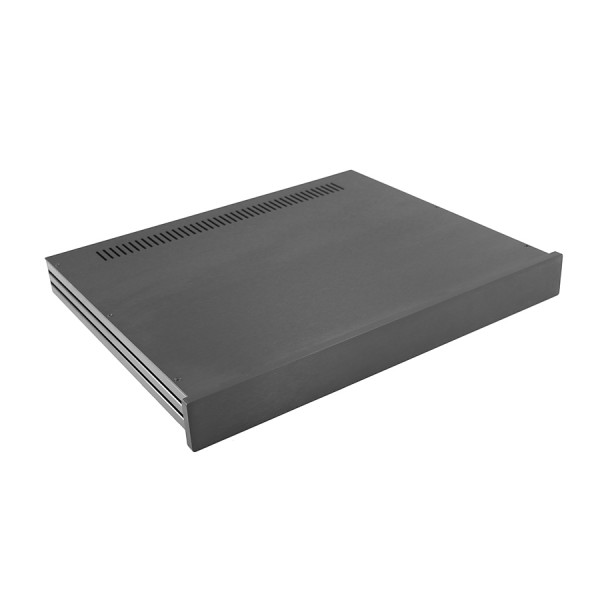 Slim Line 01/350 10mm BLACK front panel - 3mm aluminium covers